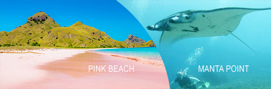 Pink Beach & Manta Point