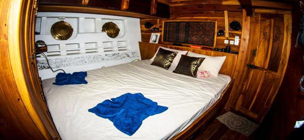 Cabin of Calico Boat Raja Ampat