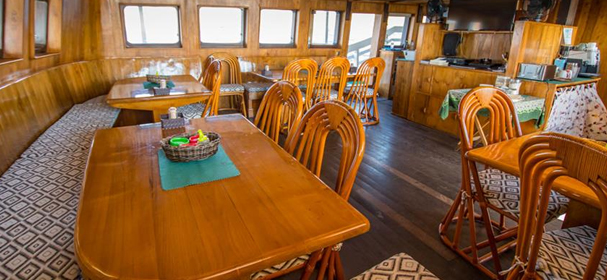 Dining Room Of Pindito Liveaboard Indonesia
