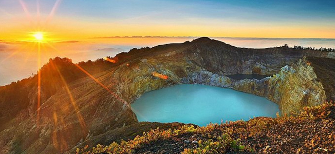 Sun Rise At Mount Kelimutu Flores