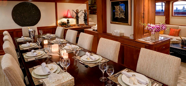 Dining Room Of Mutiara Laut Luxury Liveaboard