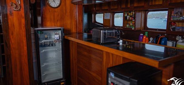 SY Raja Naga Laut Boat Kitchen